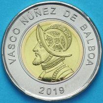 Панама 1 бальбоа 2019 год. Васко Нуньес де Бальбоа.