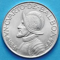 Панама 1/4 бальбоа 1962 год. Серебро.