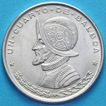 Панама 1/4 бальбоа 1961 год. Серебро.