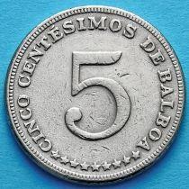 Панама 5 сентесимо 1967-1970 год.