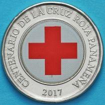 Панама 1 бальбоа 2017 год. 100 лет Красному кресту.
