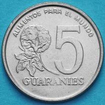 Парагвай 5 гуарани 1986 год.
