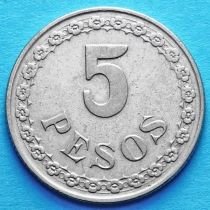 Парагвай 5 песо 1939 год.