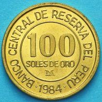 Перу 100 солей 1984 год. Адмирал Грау.