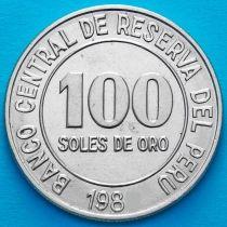 Перу 100 солей 1982 год.