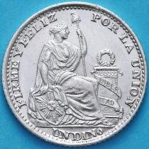 Перу 1 динеро 1893 год. Серебро.