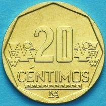 Перу 20 сентимо 2019 год.