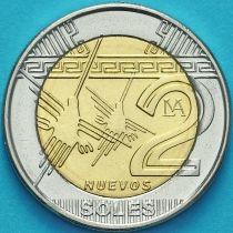 Перу 2 новых соля 2011 год.