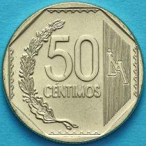 Перу 50 сентимо 2018 год.