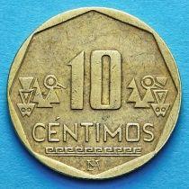 Перу 10 сентимо 2001--2017 год.