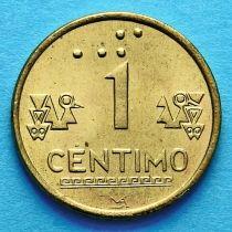 Перу 1 сентимо 1999 год.