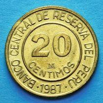 Перу 20 сентимо 1986-1987 год.