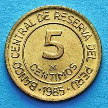 Перу 5 сентимо 1985 год. Мигель Грау Семинарио.