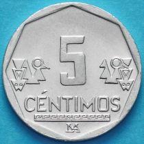 Перу 5 сентимо 2018 год.