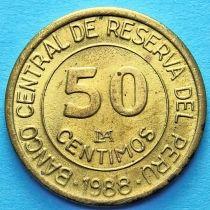 Перу 50 сентимо 1987-1988 год.