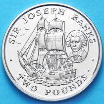 Южная Георгия и Южные Сэндвичевы Острова 2 фунта 2001 г. Джозеф Банкс
