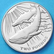 Южная Георгия и Южные Сэндвичевы Острова 2 фунта 2013 г. Синий кит