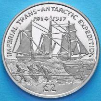 Южная Георгия и Южные Сэндвичевы Острова 2 фунта 2017 год. Эндьюранс.
