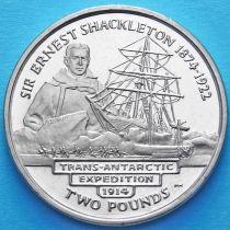 Южная Георгия и Южные Сэндвичевы Острова 2 фунта 2004 год. Сэр Эрнест Шеклтон