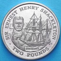 Южная Георгия и Южные Сэндвичевы Острова 2 фунта 2001 год. Сэр Эрнест Шеклтон