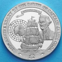 Южная Георгия и Южные Сэндвичевы острова 2 фунта 2003 год. Джеймс Кук