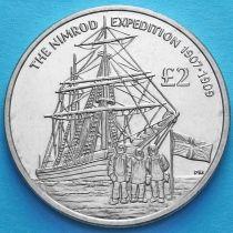 Южная Георгия и Южные Сэндвичевы острова 2 фунта 2009 год. Экспедиция Нимрод.