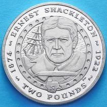 Южная Георгия и Южные Сэндвичевы острова 2 фунта 2007 год. Эрнест Шеклтон