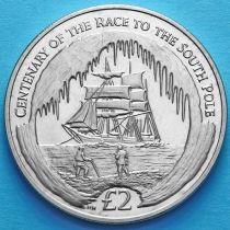 Южная Георгия и Южные Сэндвичевы Острова 2 фунта 2010 год. Южный полюс.