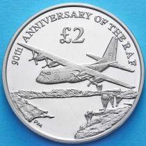 Южная Георгия и Южные Сэндвичевы Острова 2 фунта 2008 год. 90 лет авиации