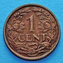 Суринам 1 цент 1960 год.  Лев герба Нидерландов.