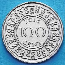 Суринам 100 центов 2014 год.