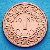 Суринам 1 цент 1988 год.