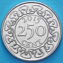 Суринам 250 центов 2015 год.