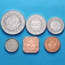 Суринам набор 6 монет 1985- 2015 год.