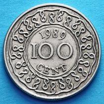 Суринам 100 центов 1980-2012 год.