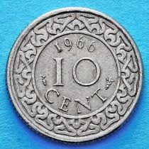 Суринам 10 центов 1962-1966 год.