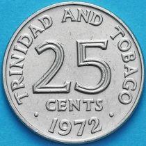 Тринидад и Тобаго 25 центов 1972 год.