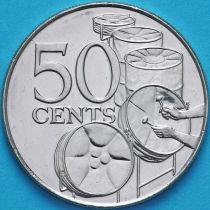 Тринидад и Тобаго 50 центов 2003 год.