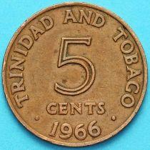 Тринидад и Тобаго 5 центов 1966-1972 год.
