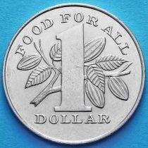 Лот 10 монет. Тринидад и Тобаго 1 доллар 1979 год. ФАО.