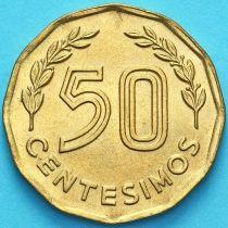 Уругвай 50 сентесимо 1977 год.