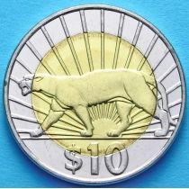 Уругвай 10 песо 2011 год. Пума.
