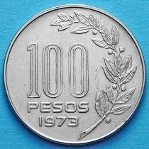 Уругвай 100 песо 1973 год.