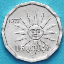 Уругвай 1 сентесимо 1977 год.