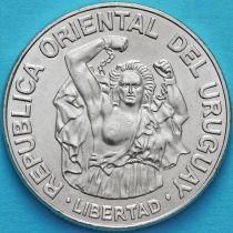 Уругвай 200 новых песо 1989 год.
