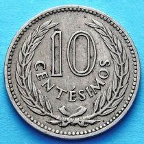 Уругвай 10 сентесимо 1953-1959 год.