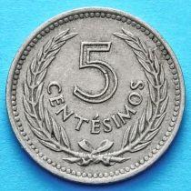 Уругвай 5 сентесимо 1953 год.