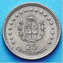 Уругвай 25 сентесимо 1960 год.