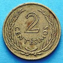Уругвай 2 сентесимо 1960 год.