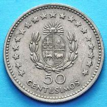 Уругвай 50 сентесимо 1960 год.